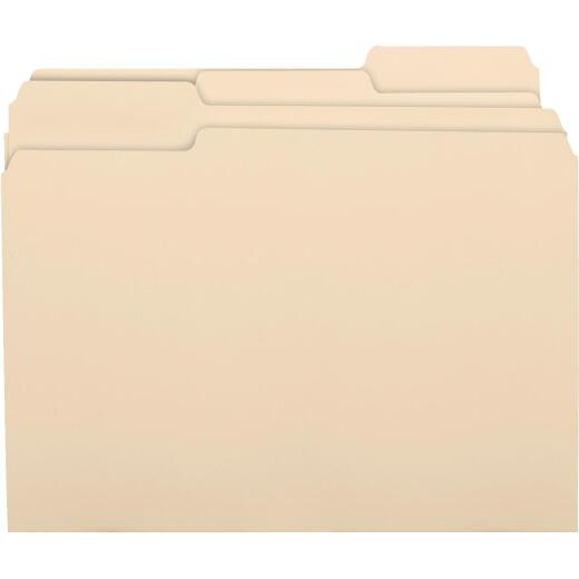 Business Source Letter 1 In. Manila File Folder (100-Pack)